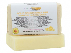 Solid Conditioner Bar For Sensitive Hair And Scalp, 1 Bar Of 95g