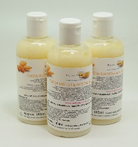 1 BOTTLE LIQUID COCOA BUTTER & ALMOND  BODY WASH HANDMADE &  NATURAL APPROX 150ML