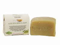 Aloe Vera & Neem Oil Soap, Natural & Handmade, Approx 120g