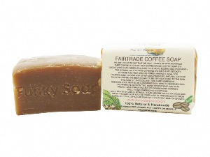 Fairtrade Coffee Soap, Natural & Handmade, Approx 120g