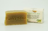 1 PIECE ALOE VERA & NEEM OIL SOAP, NATURAL & HANDMADE, APPROX 65G