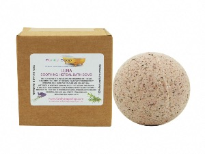 """LUNA"" SOOTHING HERBAL BATH BOMB, 5CM DIAMETER"