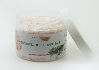 1TUB SOOTHING HERBAL BATH SALTS, 100% NATURAL, APPROX 500G