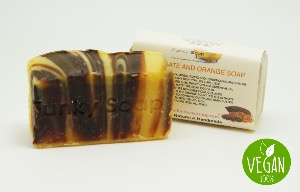 VEGAN CHOCOLATE & ORANGE SOAP, 1 PIECE OF APPROX 65G