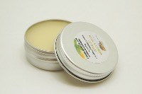 1 TIN OF 15G BASIL & LEMON LIP BALM, HANDMADE AND VEGAN