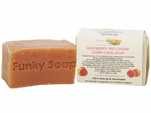 Raspberry And Cream Complexion Soap, Natural & Handmade, Approx 120g