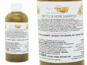 1 BOTTLE LIQUID NETTLE & HERB SHAMPOO, HANDMADE & NATURAL, APPROX 250ML