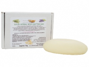 Solid Herbal Body Butter Bar, 100% Natural and Plastic free, 70g