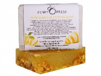 Pure Lemon Glycerine Soap infused with Lemon Peel, 100% Natural & Handmade, 95g