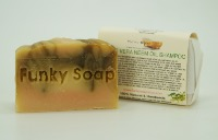 1 PIECE ALOE VERA & NEEM OIL SOLID SHAMPOO BAR, NATURAL & HANDMADE, APPROX 65G
