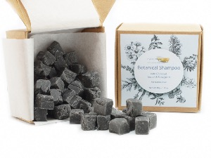 Botanical Shampoo Cubes with Charcoal & Lemon - for Normal Hair, 40g