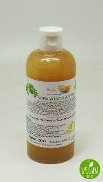 1 BOTTLE LIQUID MORINGA FACE AND BODY WASH HANDMADE &  NATURAL APPROX 250ML