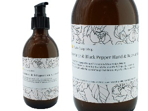 Rose Maroc & Black Pepper Hand & Body wash, Glass Bottle of 250ml