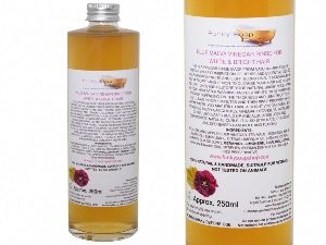 Vinegar Rinse For White/Bright Hair, 100% Natural & Free Of Chemicals, Glass Bottle of 250ml