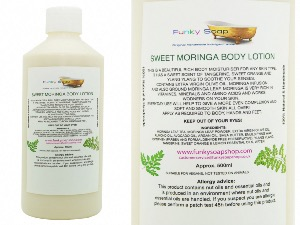 SWEET MORINGA BODY LOTION 1 BOTTLE OF 500G, HANDMADE AND NATURAL