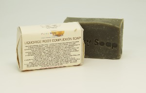 1 PIECE LIQUORICE ROOT COMPLEXION SOAP, NATURAL & HANDMADE, APPROX 65G