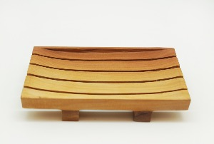 MAHOGANY SQUARE SOAPDISH