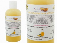 Liquid Super Sensitive Olive Body Wash, 1 Bottle of 250ml