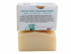 Vegan Solid Dish Washing Soap, Handmade And Natural, Approx 120g