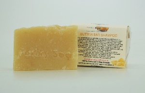 1 PIECE BUTTER BAR SHAMPOO, NATURAL & HANDMADE, APPROX 65G