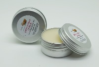 1 TIN OF 15G SWEET VANILLA LIP BALM, HANDMADE AND NATURAL