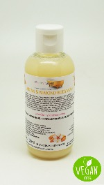 1 BOTTLE LIQUID ARGAN OIL & ALMOND  BODY WASH HANDMADE &  NATURAL APPROX 150ML