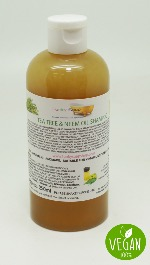 1 BOTTLE LIQUID TEA TREE NEEM OIL SHAMPOO, HANDMADE & NATURAL, APPROX 250ML