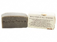 1 PIECE BLACK WALNUT SOLID SHAMPOO BAR FOR DARK HAIR, NATURAL & HANDMADE, APPROX 65G