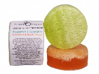 Loofah Glycerine Soap, Peppermint & Grapefruit, 100% Natural & Handmade, 120g