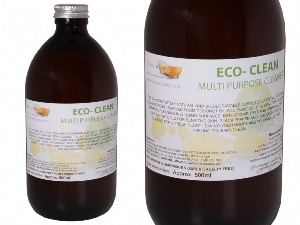 Eco- Clean Liquid Soap with Black Pepper & Lime, 1 Glass Bottle of 500ml