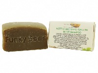 1 PIECE NETTLE AND MARSHMALLOW ROOT SOLID SHAMPOO BAR,  NATURAL & HANDMADE, APPROX. 65G