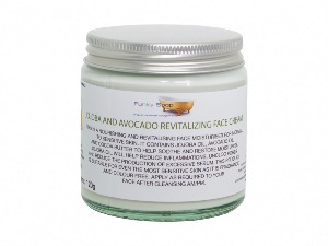 Jojoba And Avocado Revitalising Face Cream For Normal Skin, 1 Glass Tub Of 120g