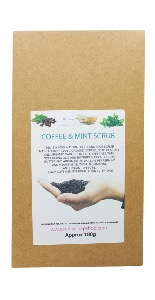 Coffee & Mint Body And Face Scrub, 100% Natural & Handmade, 180g