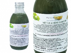 Liquid Nettle and Herb Shampoo, Glass Bottle of  250ml