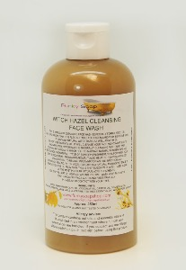 1 BOTTLE LIQUID WITCH HAZEL CLEANSING FACE WASH HANDMADE & NATURAL APPROX 250ML