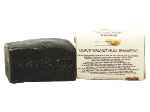 1 PIECE BLACK WALNUT SOLID SHAMPOO BAR FOR DARK HAIR, NATURAL & HANDMADE, APPROX 120G