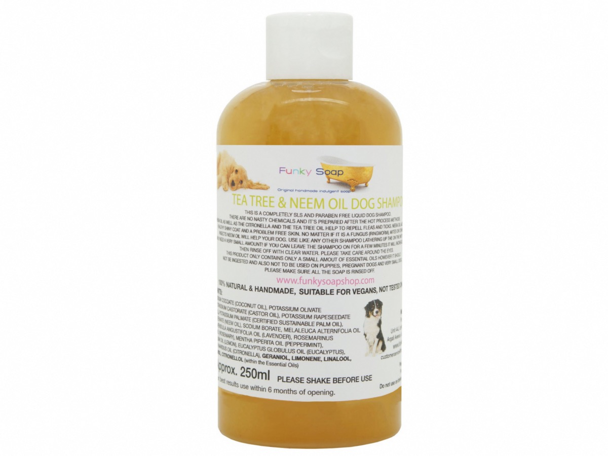 Tea Tree And Neem Oil Liquid Dog Shampoo, 1 Bottle Of 250ml