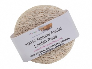 100% Natural Facial Loofah Pads, Packet of 5