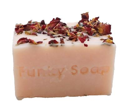 1 PIECE PINK SWEET ROSE CONDITIONING  SOAP, NATURAL & HANDMADE, APPROX 120G