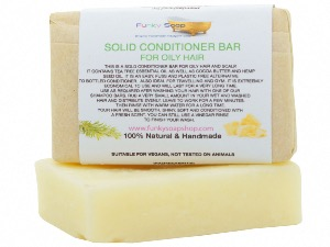 Solid Conditioner Bar For Oily Hair, 1 Bar Of 95g