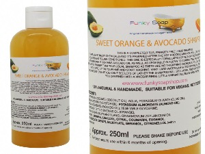 Liquid Sweet Orange & Avocado Shampoo, 1 Bottle of 250ml