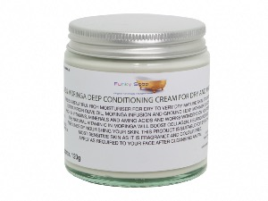 Olive & Moringa Deep Conditioning Cream For Dry And Mature Skin, 1 Glass Tub Of 120g