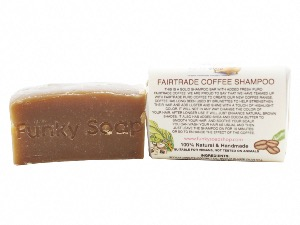 Fairtrade Coffee Shampoo Bar, Natural & Handmade, Approx 120g