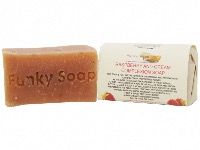 1 PIECE RASPBERRY AND CREAM COMPLEXION SOAP, NATURAL & HANDMADE, APPROX 65G
