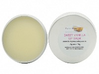 Sweet Vanilla Lip Balm, 100% Handmade And Natural, 1 Tin Of 15g
