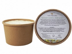 Patchouli Moringa Body Lotion Kraft Tub 250g, Plastic Free