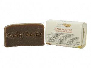 1 PIECE HENNA SOLID SHAMPOO BAR FOR RED/AUBURN/CHESTNUT SHAMPOO BAR, NATURAL & HANDMADE, APPROX 65G