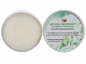 100% Natural Deodorant Grapefruit & Lemongrass, 1 Tub Of 70g