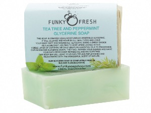 Tea Tree And Peppermint Glycerine Soap, 100% Natural & Handmade, 95g