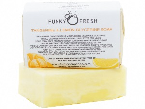 Tangerine And Lemon Glycerine Soap, 100% Natural & Handmade, 95g